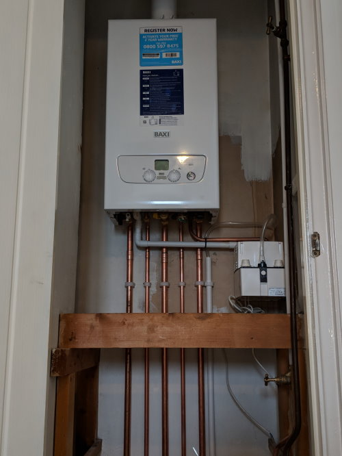 New Baxi central heating system
