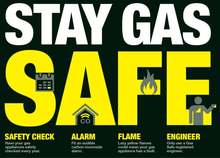 Stay gas safe poster